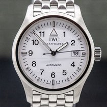 IWC Pilot Mark pre-owned 38mm White Date Steel