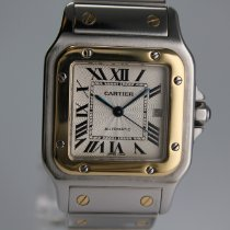 Cartier Santos Galbée Gold/Stahl 29mm Silber Römisch Deutschland, Nürnberg