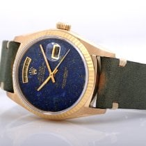 Rolex Yellow gold Automatic Blue No numerals 36mm pre-owned Day-Date 36