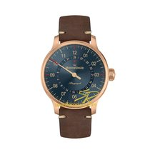 Meistersinger Perigraph AM1017BR 43mm Automatico Bronzo Perigrafo Blu Nuovo Bronzo 43mm Automatico Italia, VICENZA