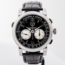 A. Lange & Söhne Double Split Platinum 43mm Black Roman numerals United States of America, Massachusetts, Boston