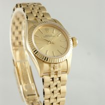 Rolex Oyster Perpetual Yellow gold 25mm Champagne