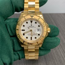 Rolex Yellow gold Automatic White No numerals 40mm new Yacht-Master
