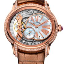Audemars Piguet Millenary Hand-Wound 18K Pink Gold & Diamonds...