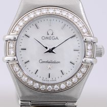 Omega Constellation Quartz Steel 22.5mm Mother of pearl No numerals