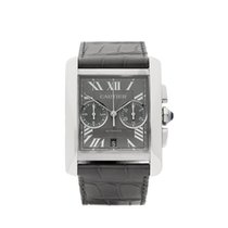 Cartier Tank MC Chronograph Stainless Steel Gents 3666 or...