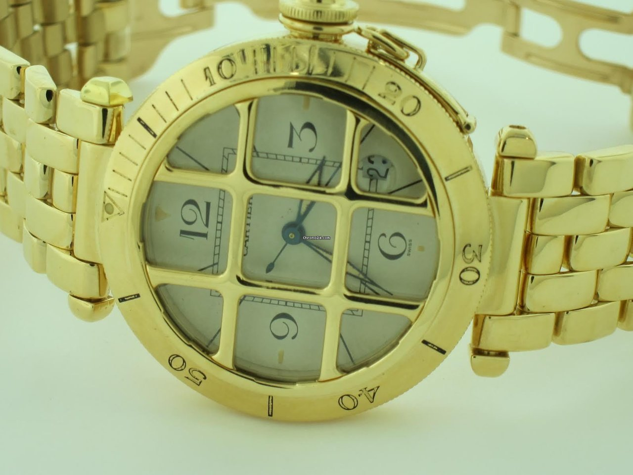 a33d3b36eab42 Cartier Pasha 18K Solid Gold Grid Automatic