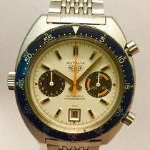 Heuer Autavia Chronograph Vintage Orange Boy White Reverse  1163