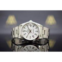Rolex Oyster Perpetual Date Acier 34mm Blanc