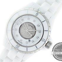 Chanel Ceramic Quartz White No numerals 33mm pre-owned J12