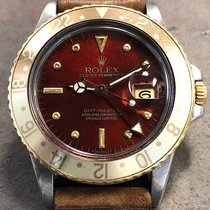 Rolex Gmt Master 16753 18k Yg/steel Fall Red Nipple Dial &...