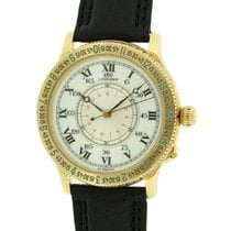 Longines Yellow gold Automatic White Roman numerals 38mm pre-owned Lindbergh Hour Angle