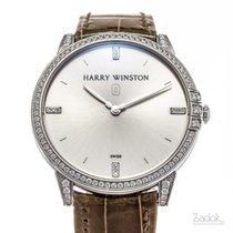 Harry Winston new Quartz 39mm White gold Sapphire Glass