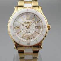 Roamer Yellow gold Quartz Mother of pearl 41mm new Pure