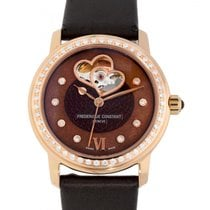 Frederique Constant Ladies Automatic Double Heart Beat Otel 34mm Maron Fara cifre