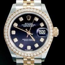 Rolex Lady-Datejust Or/Acier 28mm Violet Sans chiffres