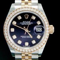 Rolex Lady-Datejust Zlato/Zeljezo 28mm Ljubicast Bez brojeva