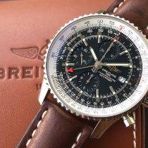 Breitling Navitimer World Stahl 46mm Schwarz Keine Ziffern Schweiz, Neuchatel