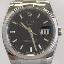 Rolex Oyster Perpetual Date 34mm Stahl/Weißgold 115234