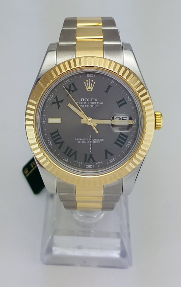 Rolex Datejust II 41mm Two Tone Fluted Bezel REF 116333