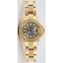 "Rolex Yachtmaster 169628 Ladies 18K Yellow Gold ""Inner..."