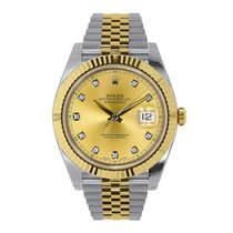 Rolex DATEJUST 41mm Steel & 18K Yellow Gold Jubilee Bracelet...
