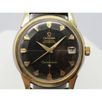 Omega Constellation pie pan Steel and gold