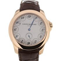 Ludovic Ballouard Upside Down 41 Grey Dial Brown Leather Strap