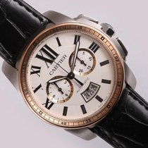 Cartier Men Calibre De Cartier Chronograph W7100043 Black...
