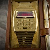 Pulsar 1976 Solid 18k 750 Gold Calculator LED Digital Quartz