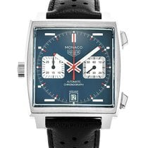 TAG Heuer Monaco Calibre 11 Steel 39mm Blue No numerals United States of America, Florida, Hollywood