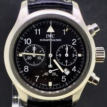 IWC Pilot Chronograph Steel Black Dial 36MM, MINT With Box