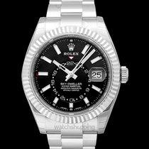 Rolex Sky-Dweller Or blanc 42.00mm Noir