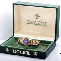 Rolex 14K Gold Ladies Oyster Perpetual w/ Original Box & Papers