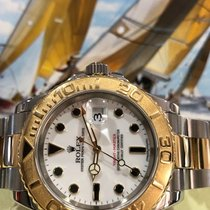 Rolex Yacht-Master 16623 18k Yellow Gold/Steel White Dial...