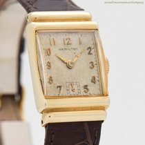 Hamilton Yellow gold 22mm Manual winding pre-owned