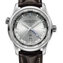 Hamilton Jazzmaster GMT / orologio uomo / quadrante grigio /...