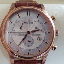 Edox Les Vauberts Chronographe Retrograde Rosé Gold 40mm