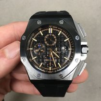 Audemars Piguet Ceramic Automatic Black No numerals 44mm pre-owned Royal Oak Offshore Chronograph