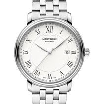 Montblanc Steel Automatic White 40mm new Tradition