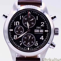 IWC Pilot Double Chronograph Steel 44mm Brown Arabic numerals