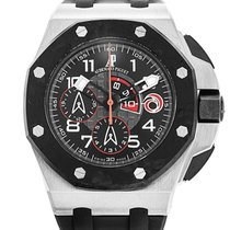Audemars Piguet Royal Oak Offshore Chronograph Platinum 44mm Black Arabic numerals