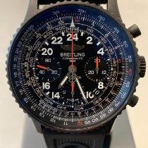 Breitling Navitimer Cosmonaute Stahl 43mm Schwarz Arabisch