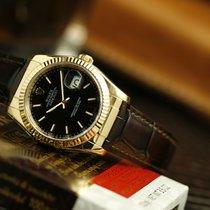 Rolex Datejust Geelgoud 36mm Zwart Geen cijfers