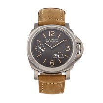 Panerai Luminor Power Reserve pre-owned 44mm Brown Leather