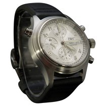 IWC Pilot Double Chronograph Steel 42.5mm Silver Arabic numerals