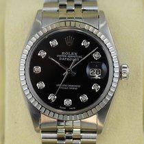 Rolex Datejust mit schwarzen Zifferblatt 10 Diamanten