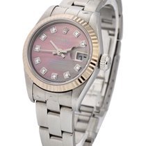 Rolex Used 69174_used_blk_MOP_DD Ladies Steel Datejust with...