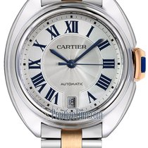 Cartier Gold/Stahl 35mm Automatik Clé de Cartier neu