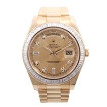 Rolex 41mm Day-Date 18k YG Factory Diamond Bezel  & Dial...